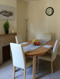 Serviced accomodation dining room